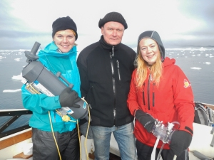 with our fearless boat pilot